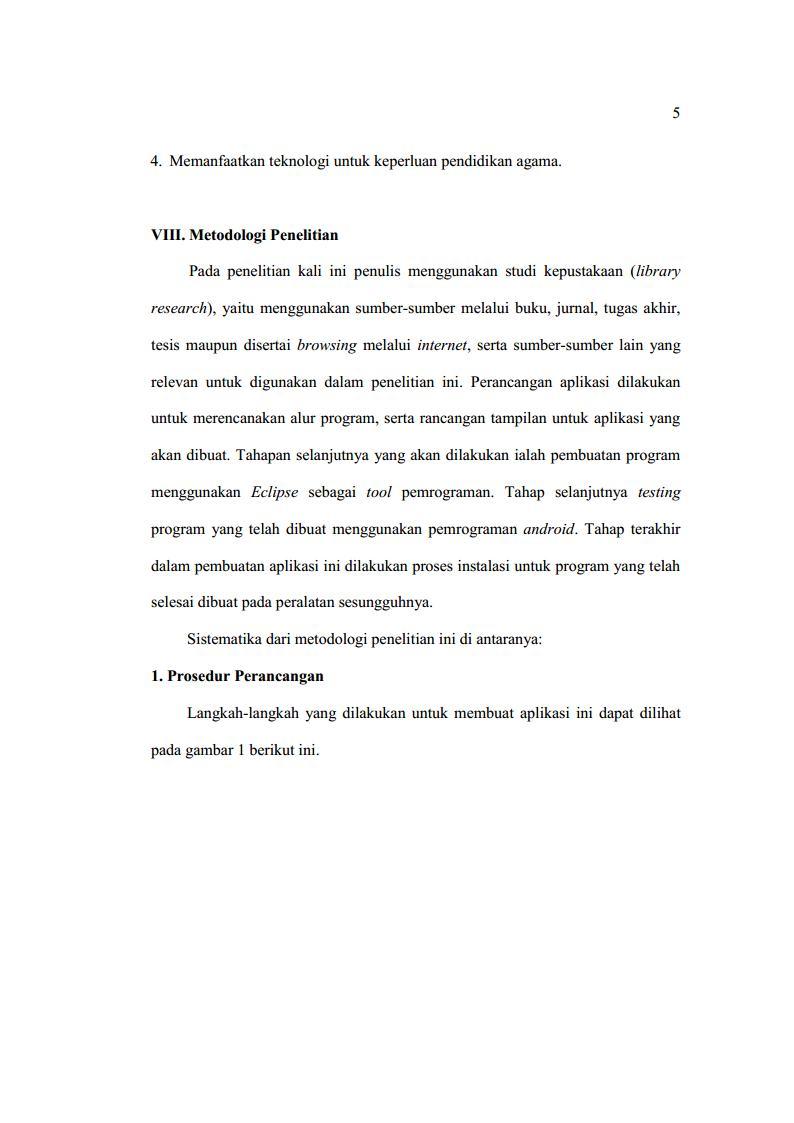 Contoh proposal skripsi hal 5
