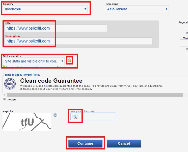 Cara mendaftarkan blog ke histats