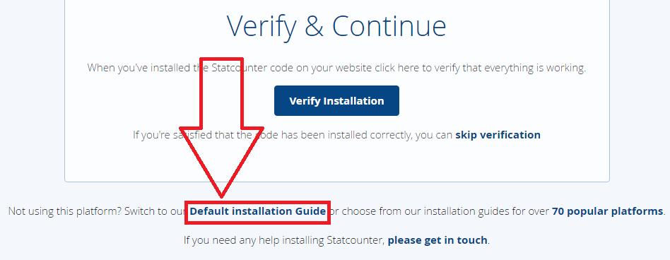 Cara mendapatkan kode statcounter